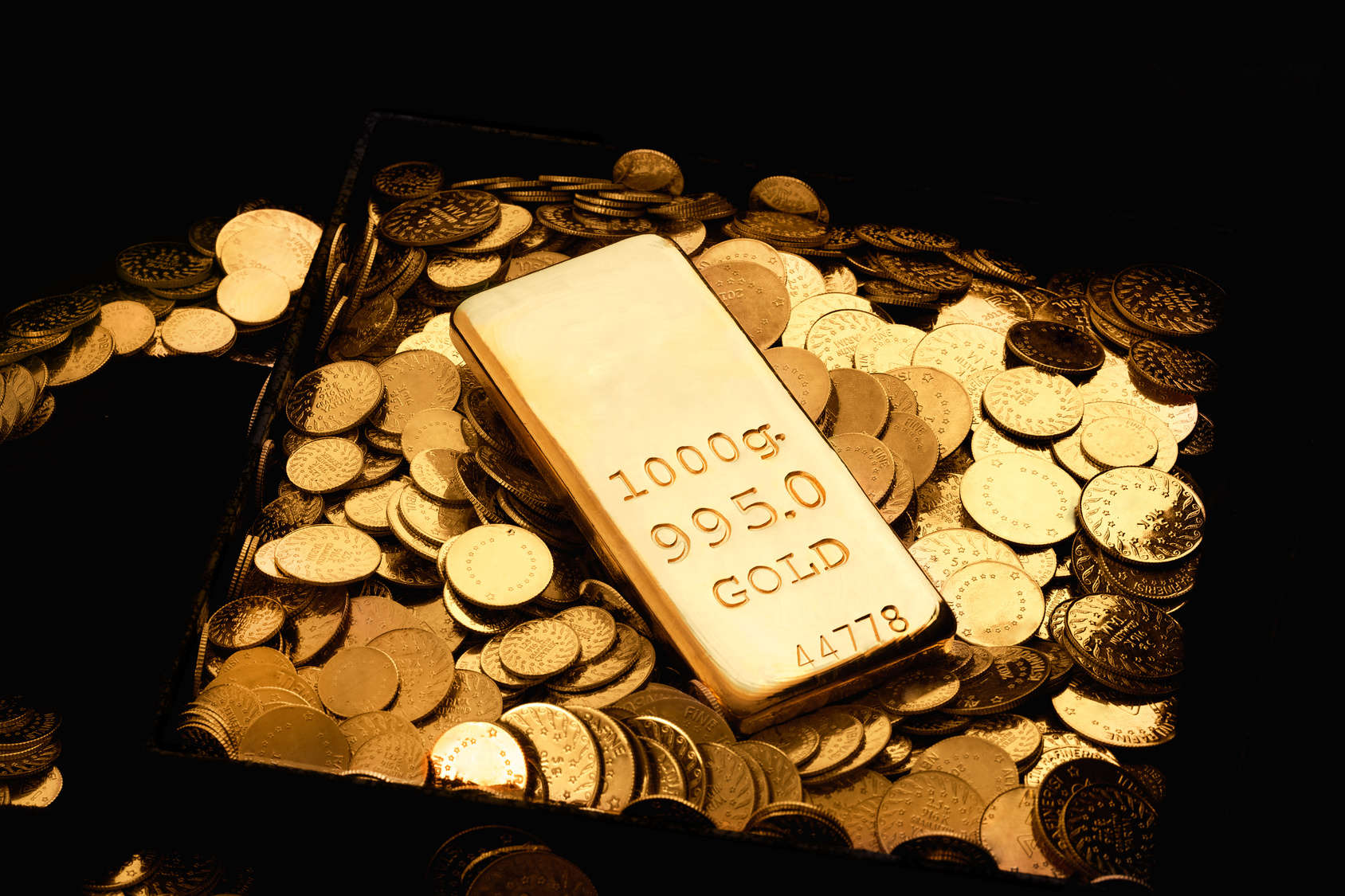 Gold bullion and coins