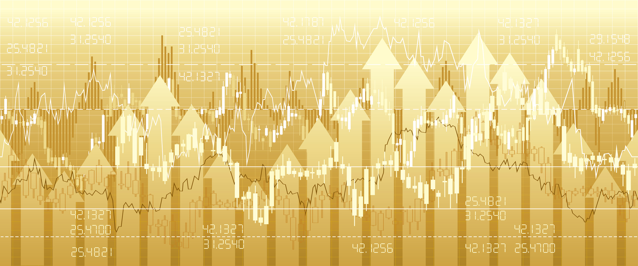 Financial market charts, quotes & analysis. Seamless border.